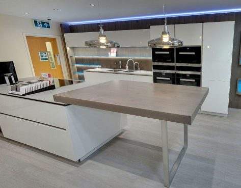 kitchen on display at our kitchen showroom in kent