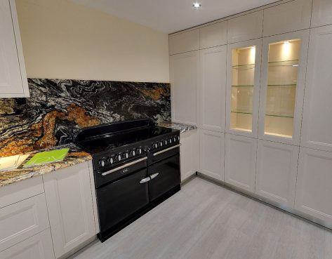 stunning kitchen on display in kent kitchen showroom