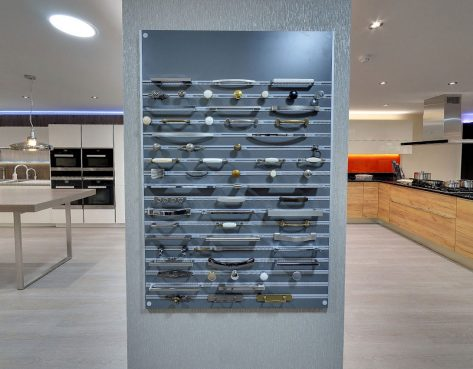 kitchen handles at our showroom in kent