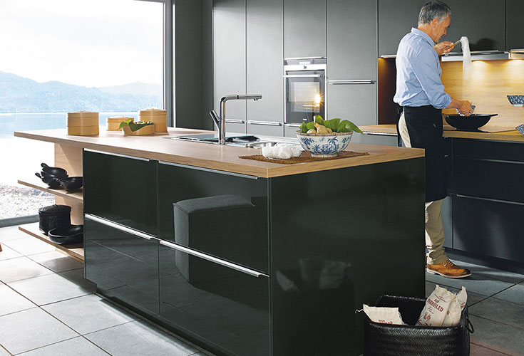 Schuller Contemporary Glasline Kitchen Island