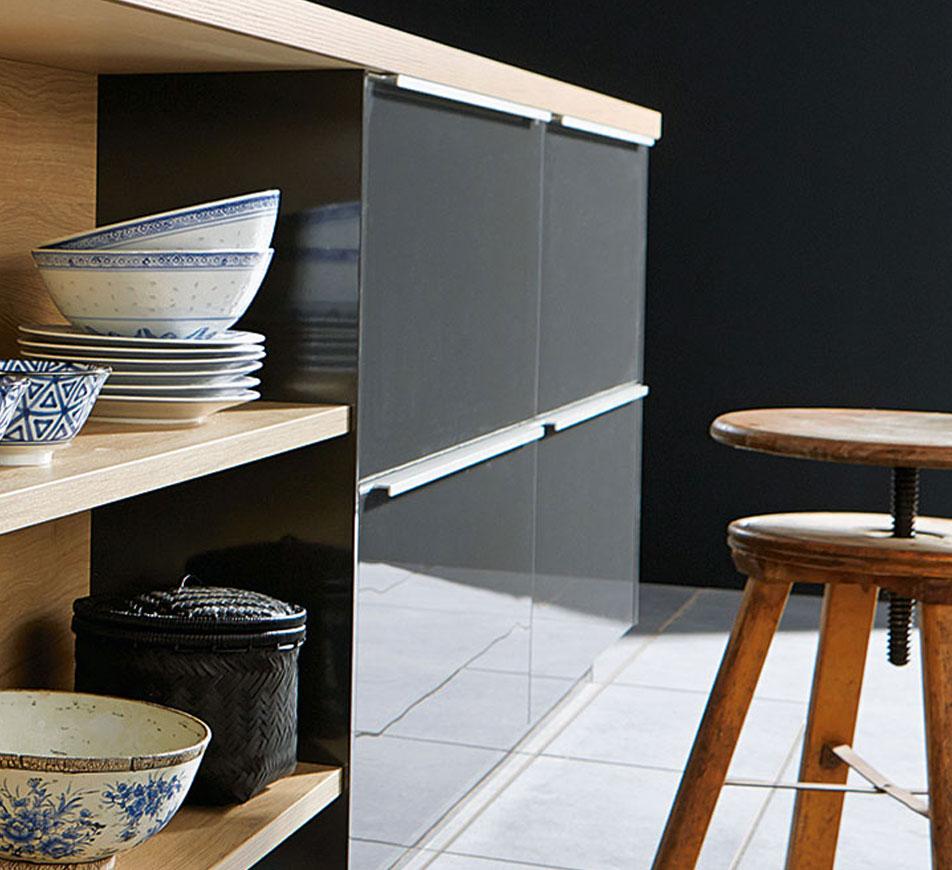 Grip Ledge Kitchen Cabinet