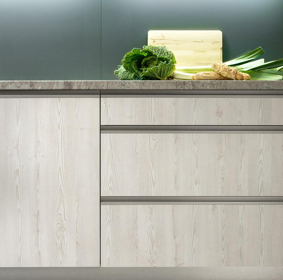 Handleless Wood Kitchen
