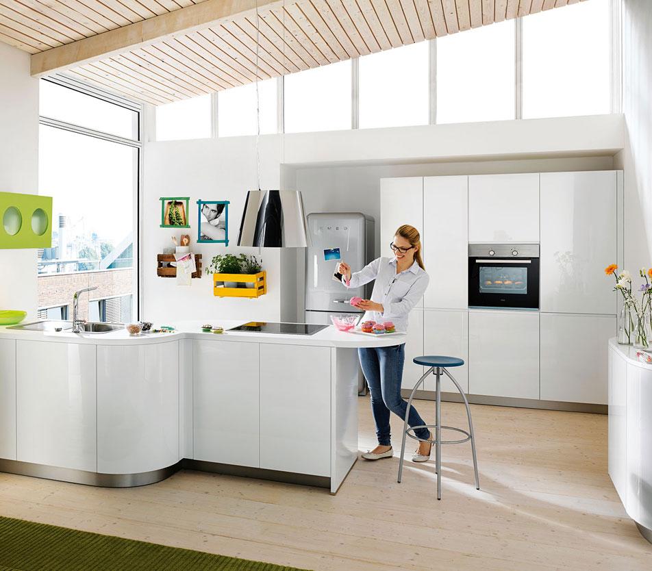 Pure White Handleless Kitchen