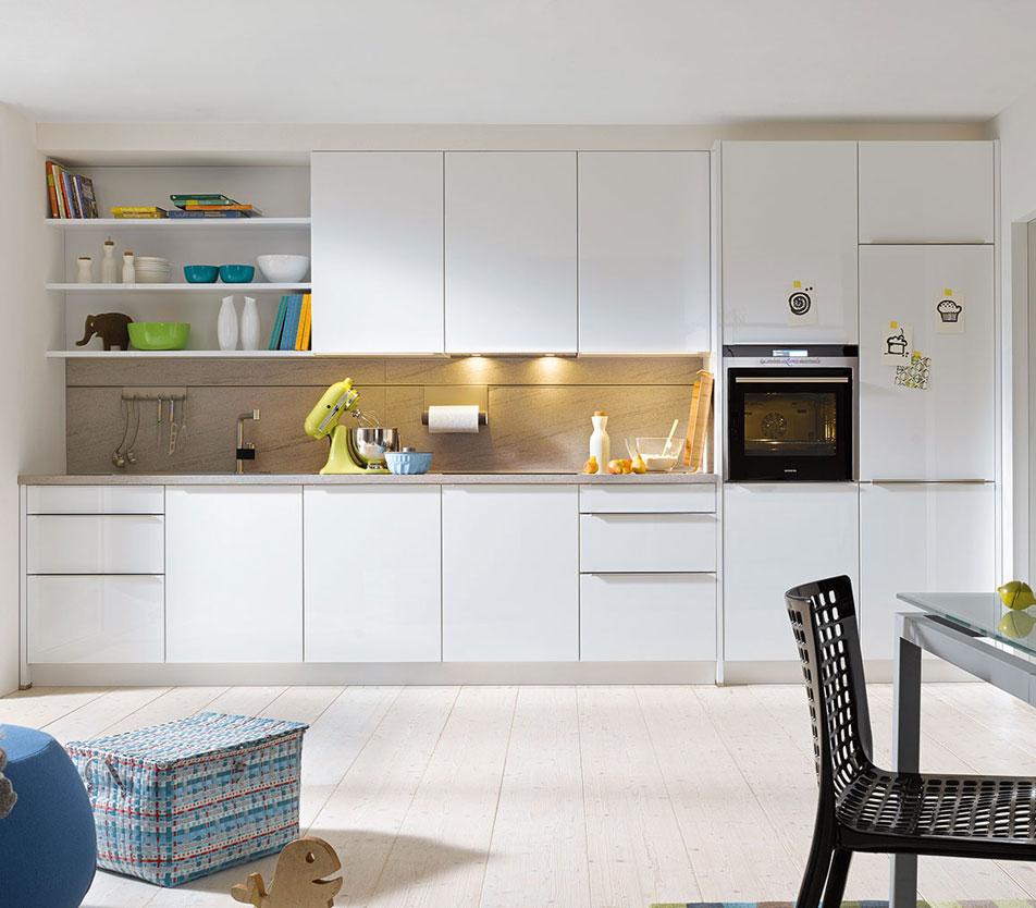 White Grip Ledge Kitchen