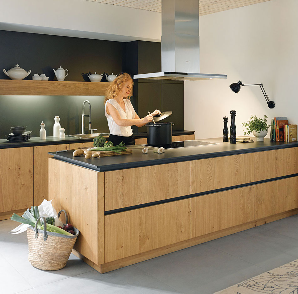 Wood Handleless Kitchen By Schuller