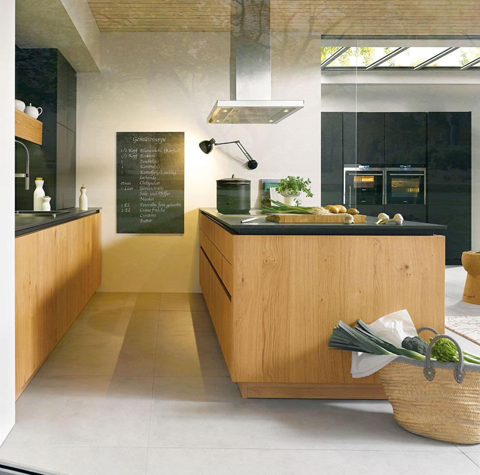 Wood Handleless Kitchen Cabinets